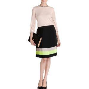Ted Baker Trudi Color Stripe Block Midi Skirt